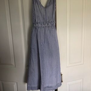 JCrew white and blue stripped light dress